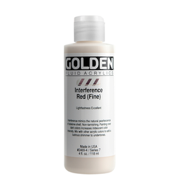 GOLDEN ACRYLICS FLUID ACRYLIC 4oz INTERFERENCE RED FINE