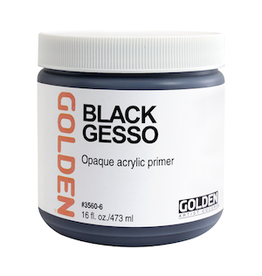GOLDEN ACRYLICS BLACK GESSO 16oz
