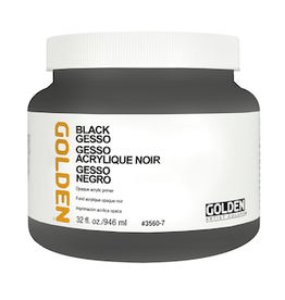 GOLDEN ACRYLICS BLACK GESSO 32oz