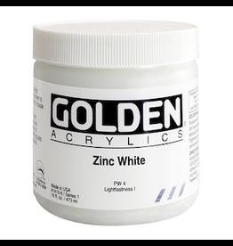 GOLDEN ACRYLICS HEAVY BODY ACRYLIC 16oz ZINC WHITE