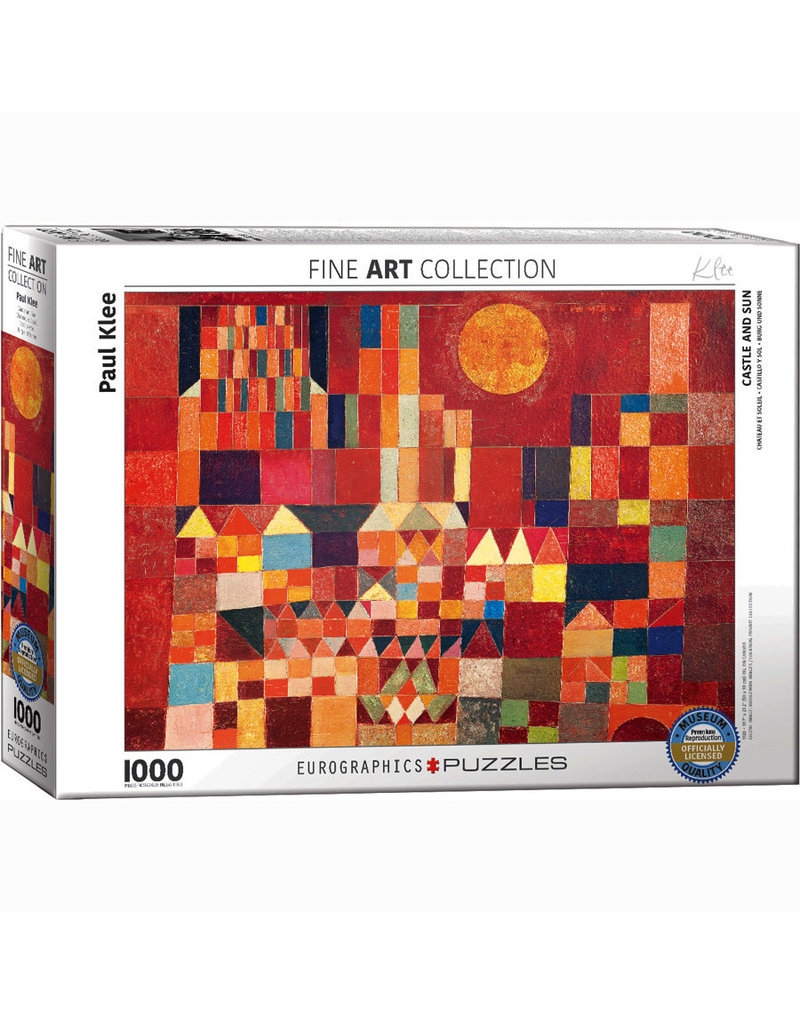EURPGRAPHICS PUZZLES 1000 PIECE PUZZLE - KLEE CASTLE AND SUN