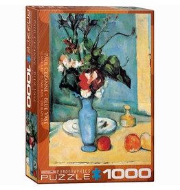 EURPGRAPHICS PUZZLES 1000 PIECE PUZZLE - CEZANNE BLUE VASE