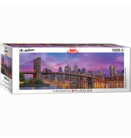 EURPGRAPHICS PUZZLES 1000 PIECE PUZZLE PANORAMIC - BROOKLYN BRIDGE