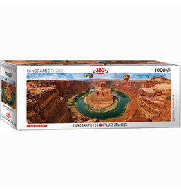 EURPGRAPHICS PUZZLES 1000 PIECE PUZZLE PANORAMIC - HORSESHOE BEND AZ