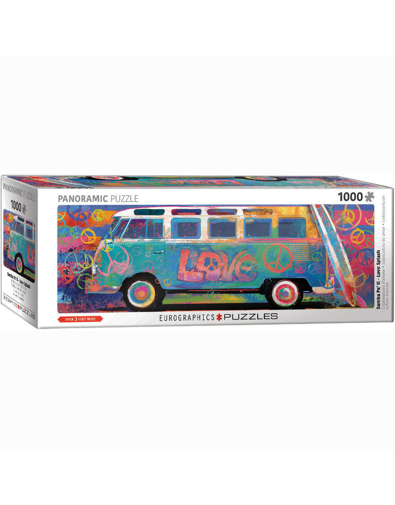 EURPGRAPHICS PUZZLES 1000 PIECE PUZZLE PANORAMIC - LOVE SPLASH