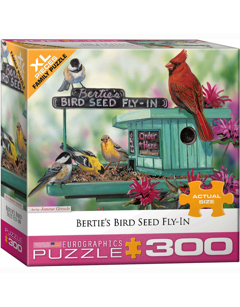 EURPGRAPHICS PUZZLES 300 PIECE PUZZLE OVERSIZE - BIRD SEED FLY IN