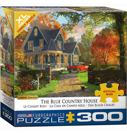 EURPGRAPHICS PUZZLES 300 PIECE PUZZLE OVERSIZE - BLUE COUNTRY HOUSE