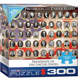 EURPGRAPHICS PUZZLES 300 PIECE PUZZLE OVERSIZE - PRESIDENTS OF THE U.S.