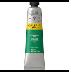 WINSOR & NEWTON GALERIA 200ml TUBE PERMANENT GREEN MIDDLE