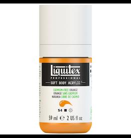 LIQUITEX SOFT BODY 59ml JAR CADMIUM-FREE ORANGE