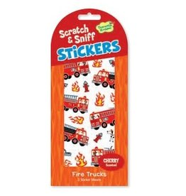 SCRATCH AND SNIFF STICKERS FIRE TRUCKS