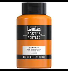 LIQUITEX BASICS 400ml JAR CADMIUM ORANGE HUE