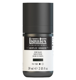 LIQUITEX LIQUITEX ACRYLIC GOUACHE 59ml JAR IVORY BLACK