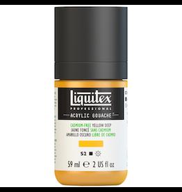 LIQUITEX LIQUITEX ACRYLIC GOUACHE 59ml JAR CADMIUM-FREE YELLOW DEEP