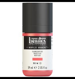 LIQUITEX LIQUITEX ACRYLIC GOUACHE 59ml JAR FLUORESCENT RED