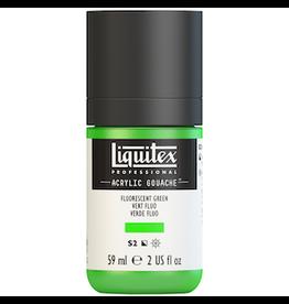 LIQUITEX LIQUITEX ACRYLIC GOUACHE 59ml JAR FLUORESCENT GREEN