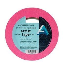 "AA ARTIST TAPE 3/4""X60YD FLUORESCENT PINK"