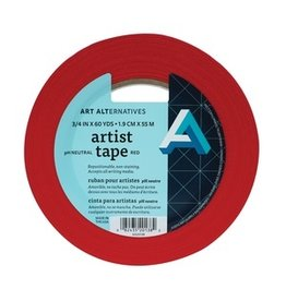 "AA ARTIST TAPE 3/4""X60YD RED"