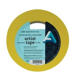 "AA ARTIST TAPE 3/4""X60YD YELLOW"