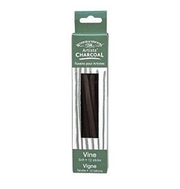 WINSOR & NEWTON VINE CHARCOAL BOX/12 SOFT