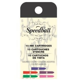 SPEEDBALL FOUNTAIN PEN INK CARTRIDGES ASSORTED COLORS