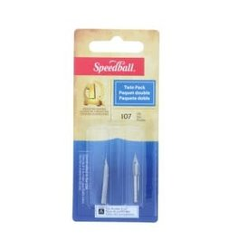 SPEEDBALL #107 TWIN PACK NIBS