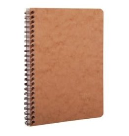 CLAIR FONTAINE BASIC WIRE NOTEBOOK RULED TAN 6X8.25