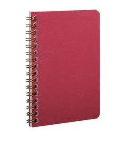 CLAIR FONTAINE BASIC WIRE NOTEBOOK RULED RED 3.5X5.5