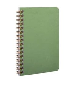 CLAIR FONTAINE BASIC WIRE NOTEBOOK RULED GREEN 3.5X5.5