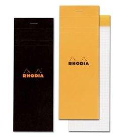 RHODIA RHODIA BLACK GRAPH PAD 3X8.25