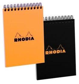RHODIA RHODIA BLACK GRAPH SPIRAL PAD 4X6