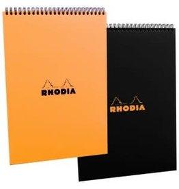 RHODIA RHODIA BLACK LINED SPIRAL PAD 8X11