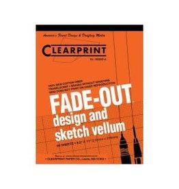 CLEARPRINT 1000H DESIGN VELLUM 10X10 GRID 50 SHEET PAD 8.5X11
