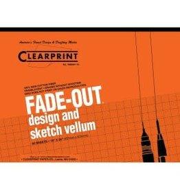 CLEARPRINT 1000H DESIGN VELLUM 1MM GRID 50 SHEET PAD 17X22