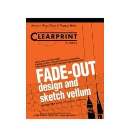 CLEARPRINT 1000H DESIGN VELLUM 4X4 GRID 50 SHEET PAD 8.5X11
