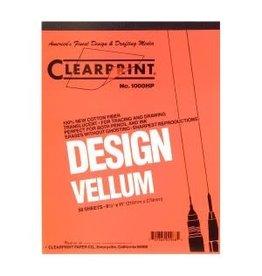 CLEARPRINT 1000H DESIGN VELLUM PLAIN 50-SHEET PAD 8.5X11