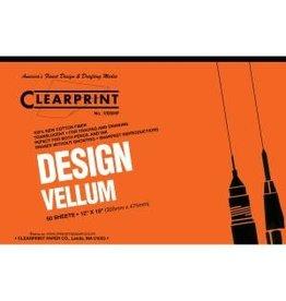 CLEARPRINT 1000H DESIGN VELLUM PLAIN 50-SHEET PAD 12X18