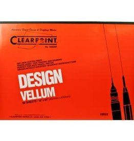 CLEARPRINT 1000H DESIGN VELLUM PLAIN 50-SHEET PAD 18X24