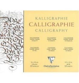 CLAIR FONTAINE CALLIGRAPHY PAD 25-SHT 9.5X12