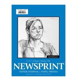 NEWSPRINT PAD 50-SHEET 9x12