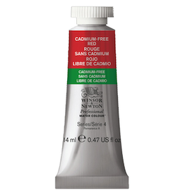 WINSOR & NEWTON PROFESSIONAL WATERCOLOR 14ml TUBE CADMIUM-FREE RED