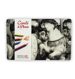 CONTE CONTE PASTEL PENCIL TIN SET/24