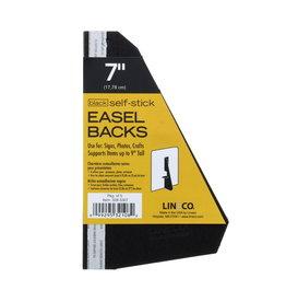 "LINECO SELF-STICK EASEL BACK 5PK BLACK 7"""
