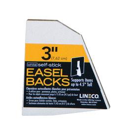 """LINECO SELF-STICK EASEL BACK 5PK WHITE 3"""""""