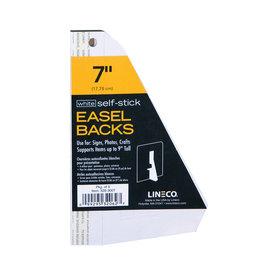"""LINECO SELF-STICK EASEL BACK 5PK WHITE 7"""""""