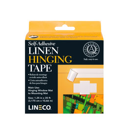 LINEN HINGING TAPE 1.25''X35 SELF-ADHESIVE