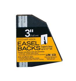 "LINECO SELF-STICK EASEL BACK 5PK BLACK 3"""