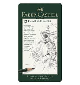 FABER CASTELL CASTELL 9000 ARTIST TIN SET/12