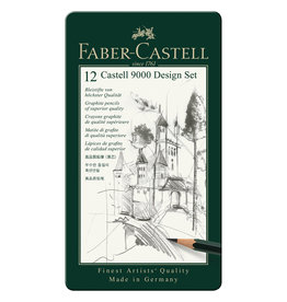 FABER CASTELL CASTELL 9000 DESIGN TIN SET/12