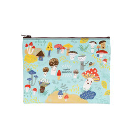ZIPPER POUCH - CUTE LIL MUSHROOMS